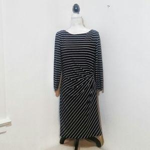Tahari Striped Flattering Fit Dress